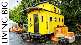 Beautiful Train Caboose Inspired Tiny House At Portland Hotel