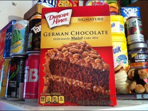 Duncan Hines German Chocolate Cake- Produit Américain.