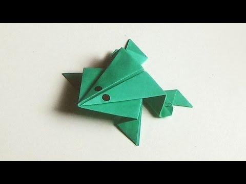 Jumping Frog - How To Make An Origami Jumping Paper Frog |
