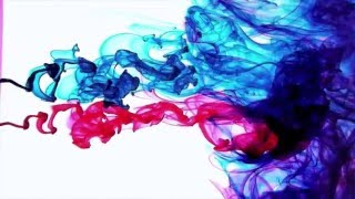 Color Ink Drops in Water Slow Motion HD