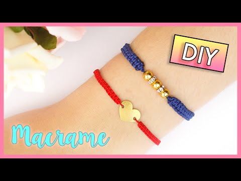 DIY MACRAME BRACELET 🌈 Square Knot/Cobra Stitch Friendship Bracelet 💖