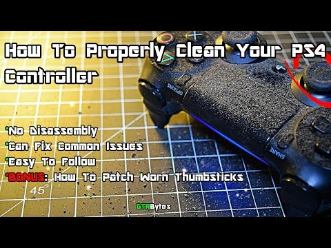 How To Properly Clean your PS4 Controller