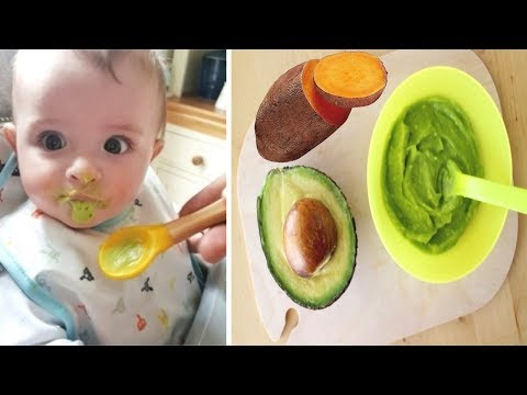 Weight Gaining Baby Food Recipe | Sweet Potato And Avocado Puree | Gain Weight Fast