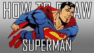 How To Draw Superman Quick Simple Easy Steps For Beginners 06