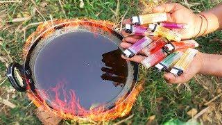 EXPERIMENT HOT OIL vs LIGHTERS