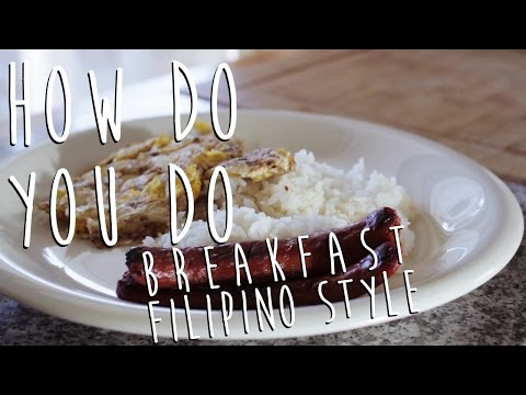 Filipino Style Breakfast: Hot Dog, Egg and Rice [How Do You Do]