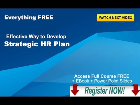 Effective way to Develop Strategic HR Plan