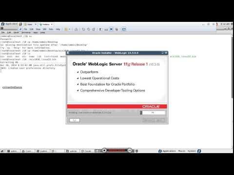weblogicserver installation GUI Mode in linux