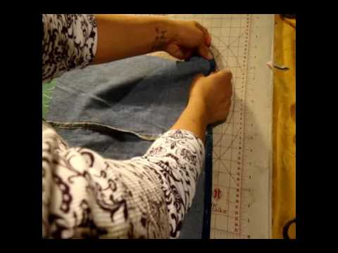 How to make a tote bag from denim jeans