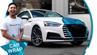 Mark's Audi S5 wrapped Super Chrome Light Blue