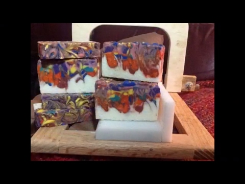 Making Melon fiesta handmade clay soap. COLD PROCESS SOAP. ( handmade artisan soap ) Corena Garoutte