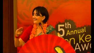 Anvita Dutt Accepts the Golden Kela for the Most Atrocious Lyrics of 2012