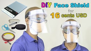 How to Make a Face Shield for Corona Virus | Easy DIY Face Shield for 16 cents USD