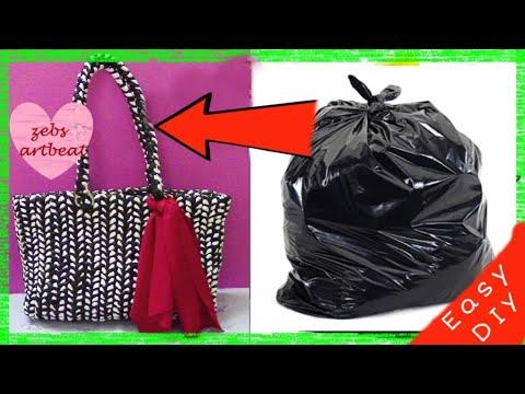 DIY| The Basket Bag| Recycle Plastic Bags