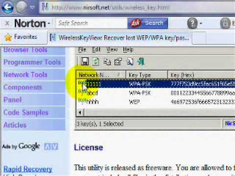 how to get a wep password (download in descrtiption)