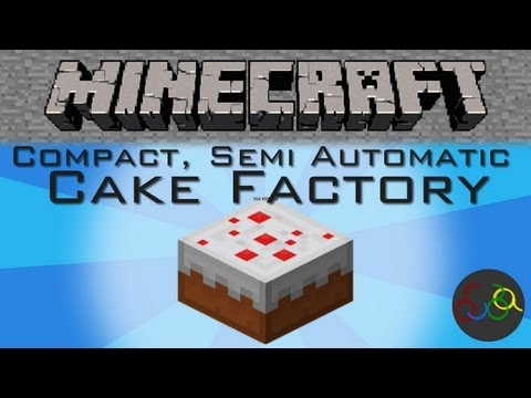 Minecraft Compact Semi Automatic Cake Factory