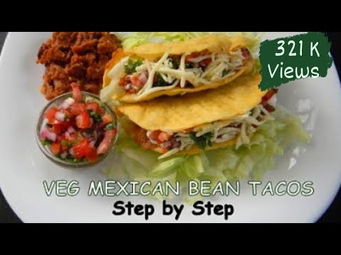 Veg Mexican Bean Tacos | Step by Step Recipe | Food Fiestaa