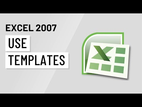 Excel 2007: Using Templates