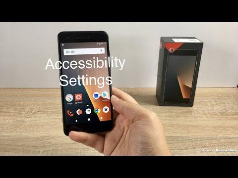Vodafone Smart V8 Accessibility Settings