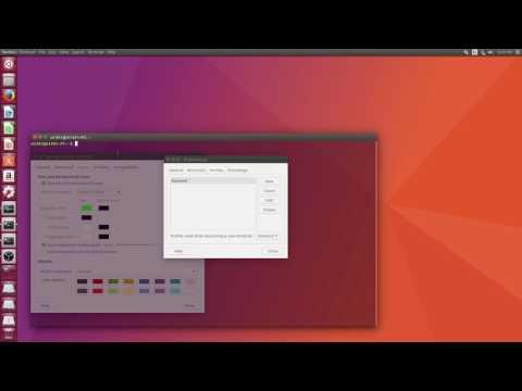 How to make Ubuntu Terminal window Transparent