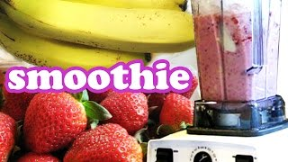 How To Make A Strawberry Banana Smoothie Recipe Smoothies Challenge H