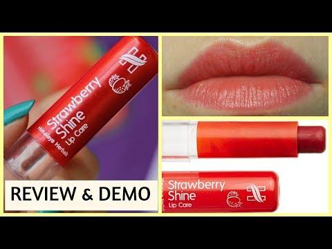 HIMALAYA strawberry shine lip balm HONEST REVIEW & DEMO ||HINDI|| NATURAL LIP BALM