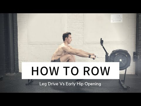 Use the Rowing Machine: Legs Vs Back