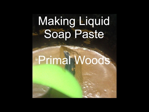 Making Liquid Soap Paste from Hardwood Ash Lye and Lard