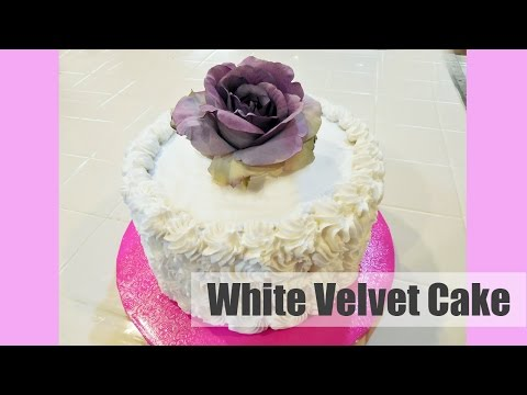 Make Moist White Velvet Cake with Rosettes