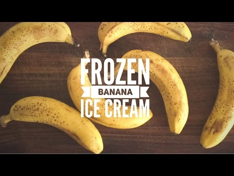 Frozen Banana Ice Cream | Three flavours