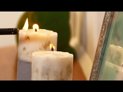 How to make concrete candle holders