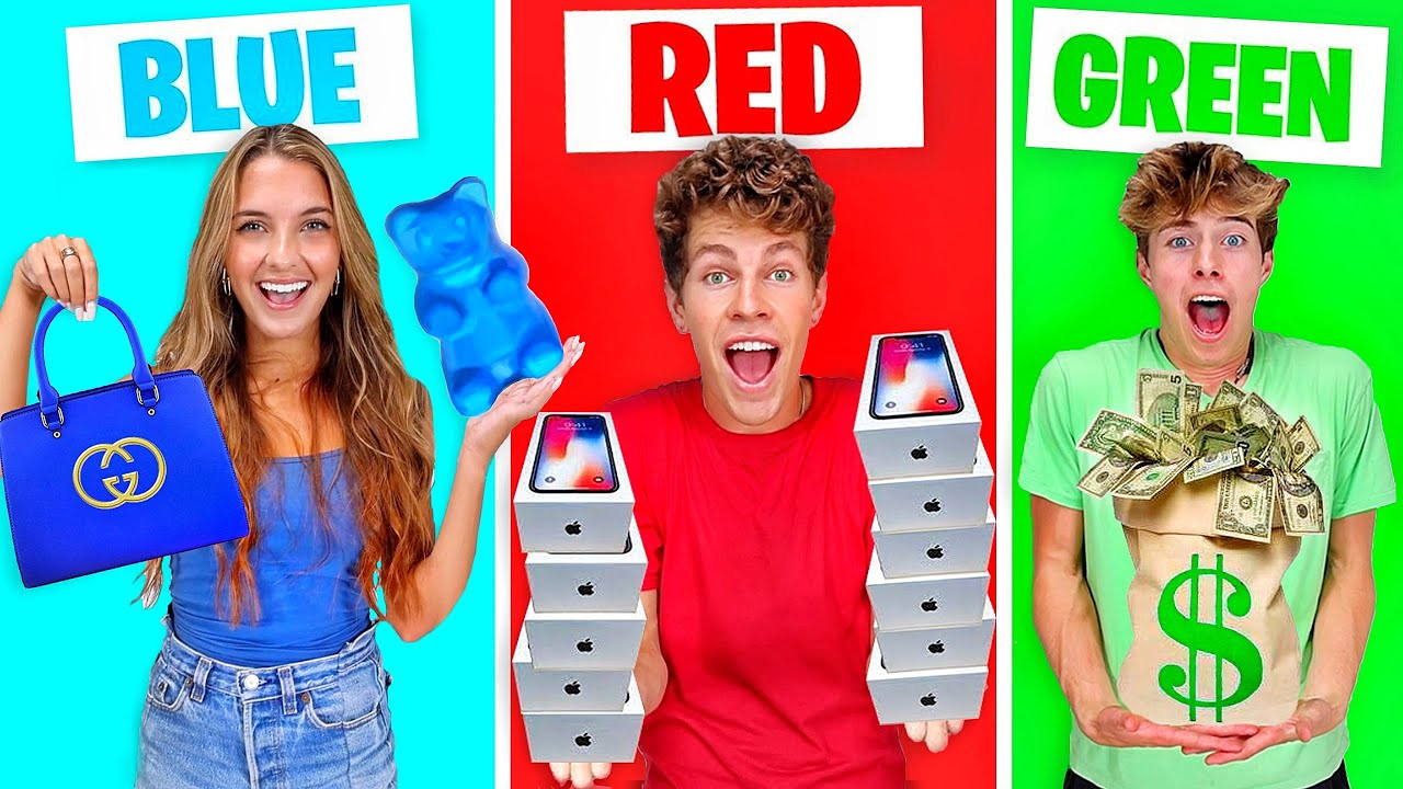 BUYING EVERYTHING IN ONE COLOR FOR 24 HOURS!