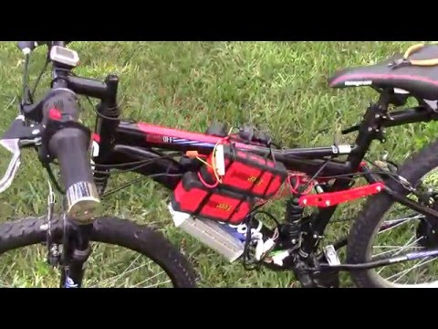Homemade  Electric Bike $450 1000 Watt  48 V Electric Bicycle using Walmart Booster Batteries