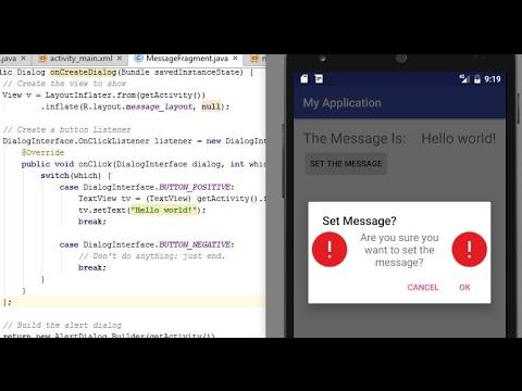 AlertDialog via Fragment: Android Programming