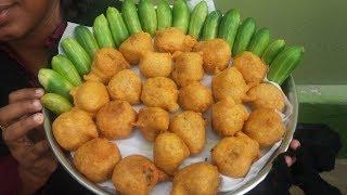 Cooking Fresh Ivy Gourd Bonda in My Village - Kovakkaai Bonda Recipe