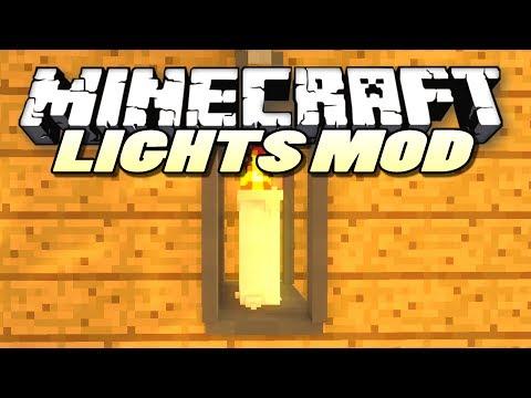 Minecraft Mods | LIGHTS MOD (Lanterns, Candles, Camp Fires) | Mod Showcase