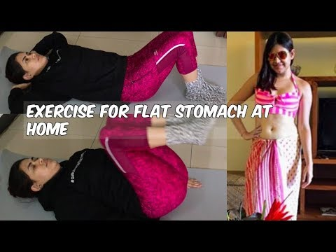 Exercises for FLAT STOMACH at home | Exercise to reduce belly fat fast at home for BEGINNERS