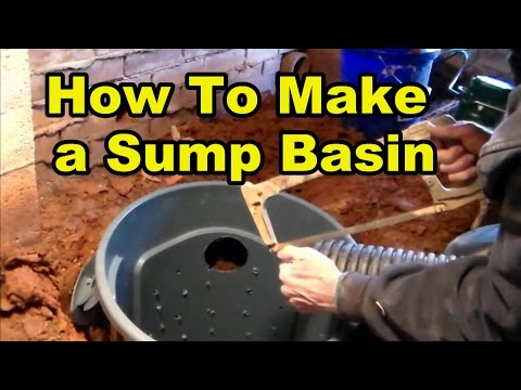 How To Make a Sump Pump Basin from 32 gal trash can