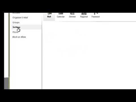 OWA - Adding a email signature