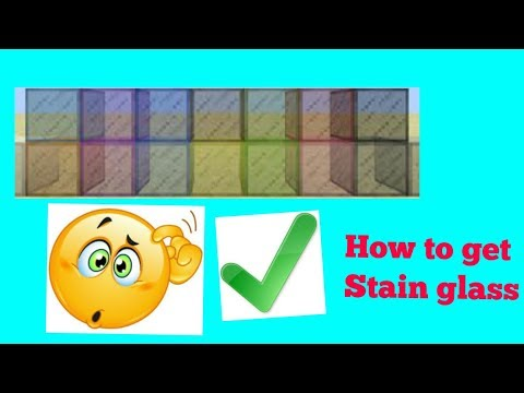 How to Get STAIN GLASS IN MINECRAFT PE