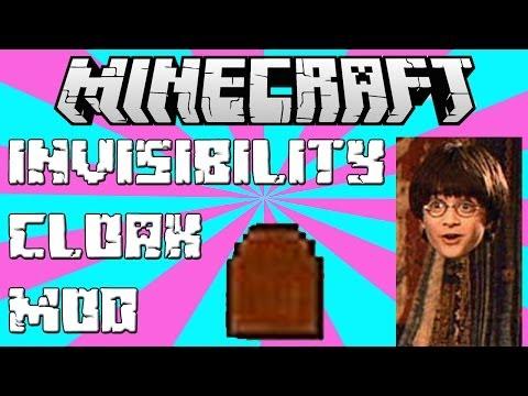 Invisibility Cloak in Minecraft! - Invisibility Cloak Mod 1.7.2 (Mod Review/Showcase)