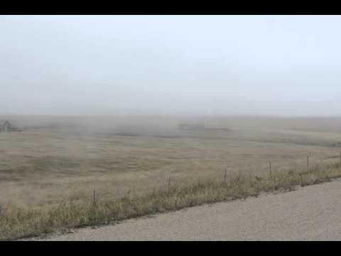 Windy Foggy Day on Bartlett Mesa