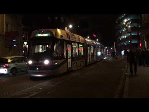 Nottingham trams by night