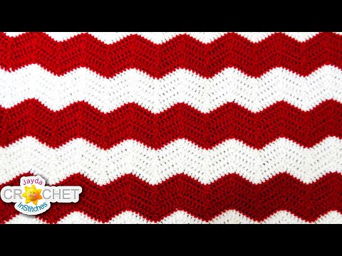 Crochet Chevron, Ripple, Zig Zag, Wave - Blanket Pattern