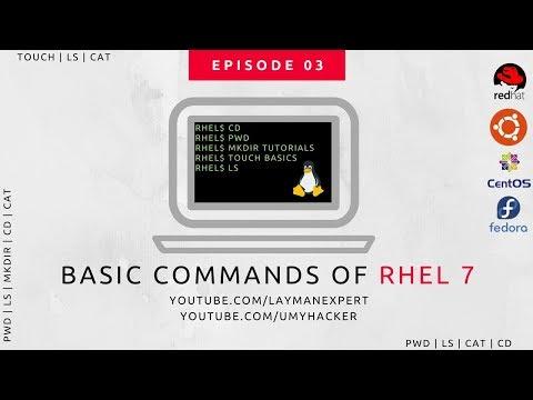Red Hat Enterprise Linux 7 (RHEL 7.0) Basic Commands