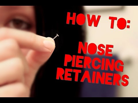 Putting In Nose Piercing Retainers! | Hide Your Piercings!