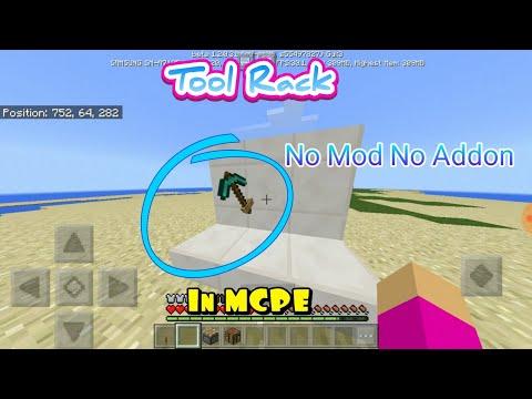 How To Make Tool Rack In MCPE