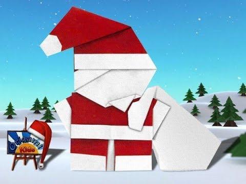 Origami Santa Claus   Origami Easy Tutorial   Paper Craft