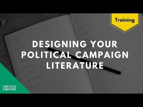 Design your political campaign literature in Canva