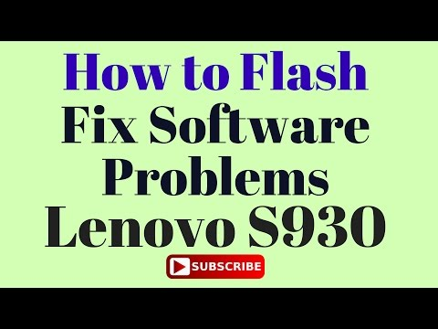 How to Flash Lenovo S930 with Flash Tool by GsmHelpFul